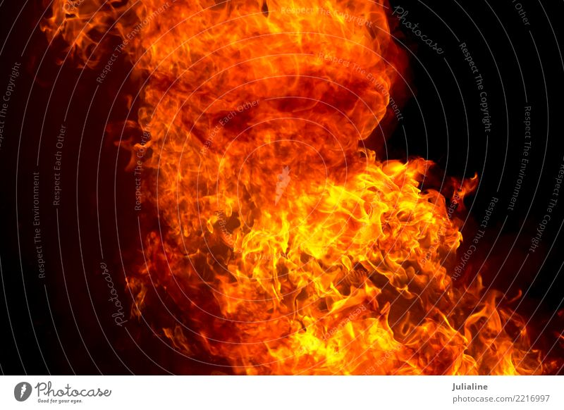 red fire flame on black background Nature Bright Yellow Red Black Energy blazing burn fireplace Temperature danger heat burning light exploding Inferno power
