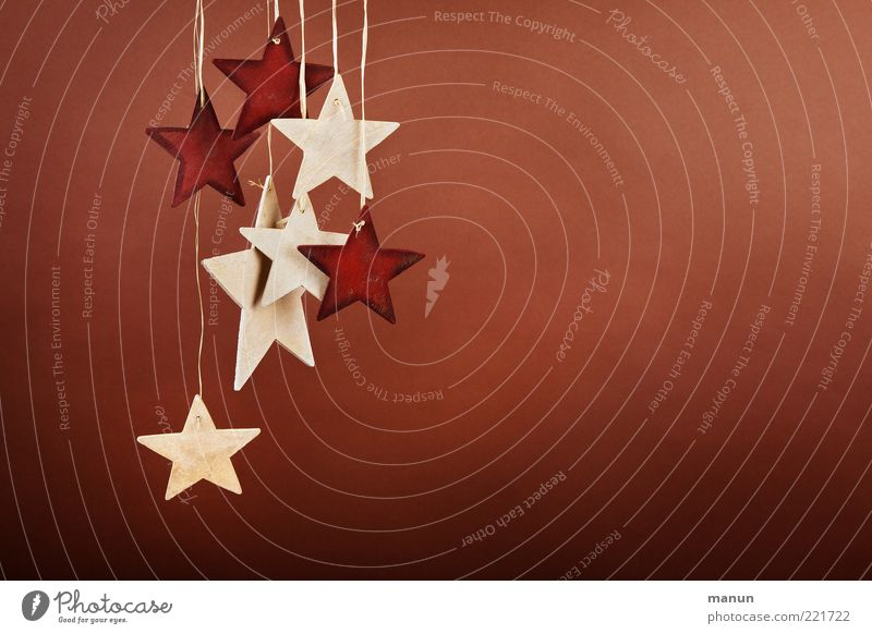 wooden stars Feasts & Celebrations Christmas decoration Star (Symbol) Wood Sign Sustainability Natural Original Anticipation Trade Simple Colour photo