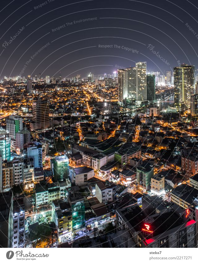 Manila Philippines Capital city Downtown Skyline Overpopulated House (Residential Structure) High-rise Large Town SME Modern Vacation & Travel Growth