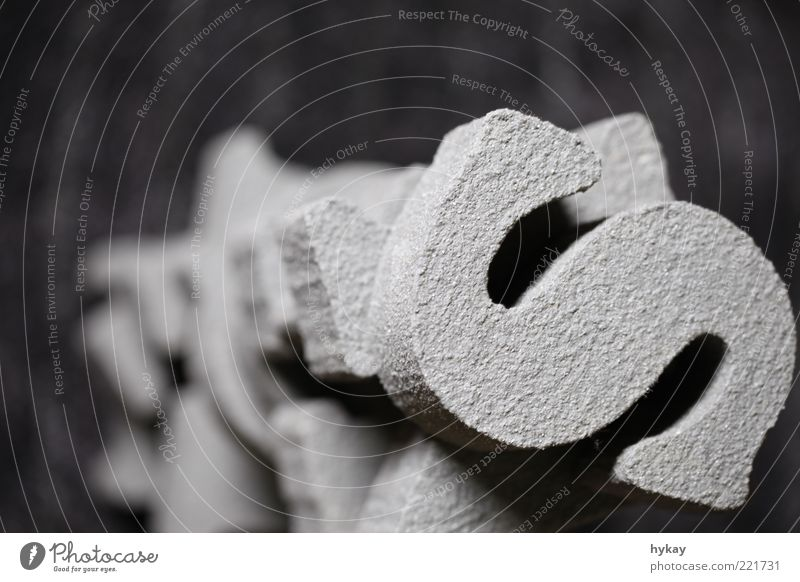 styrocut Stone Sand Concrete Characters Firm Gray Typography Tower Close-up Structures and shapes Flash photo Blur Bird's-eye view Accumulation