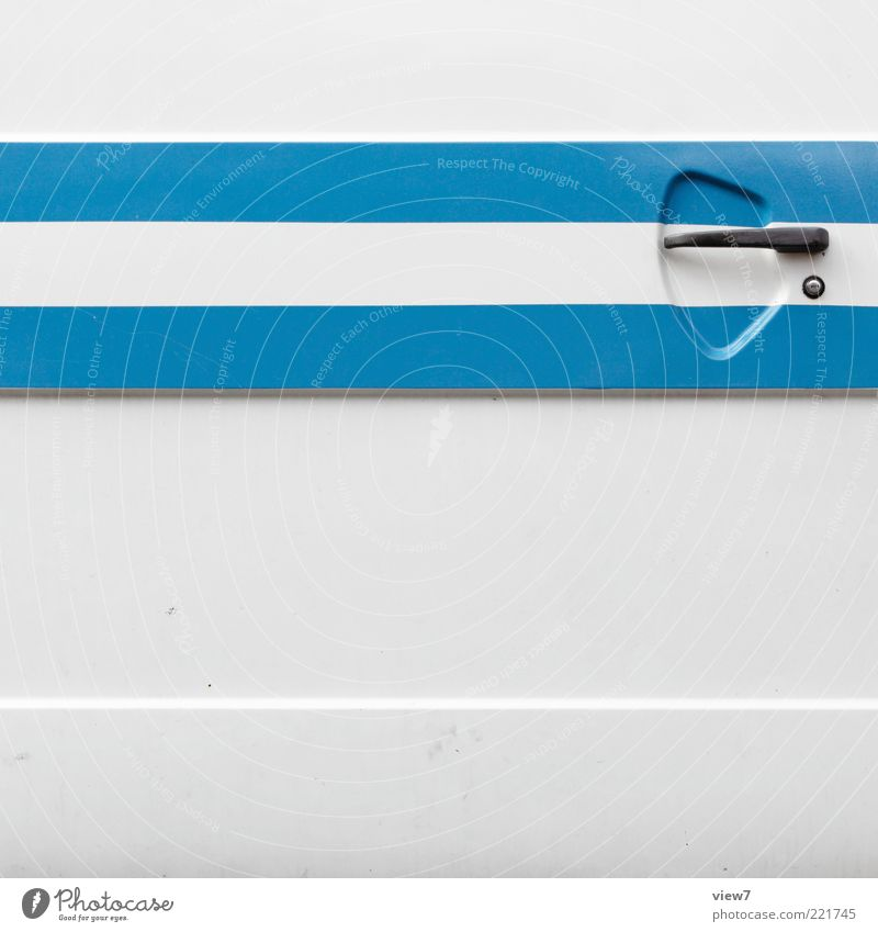 Old White Blue Line Metal Design Elegant Fresh Modern Arrangement Esthetic New Retro Authentic Simple Thin
