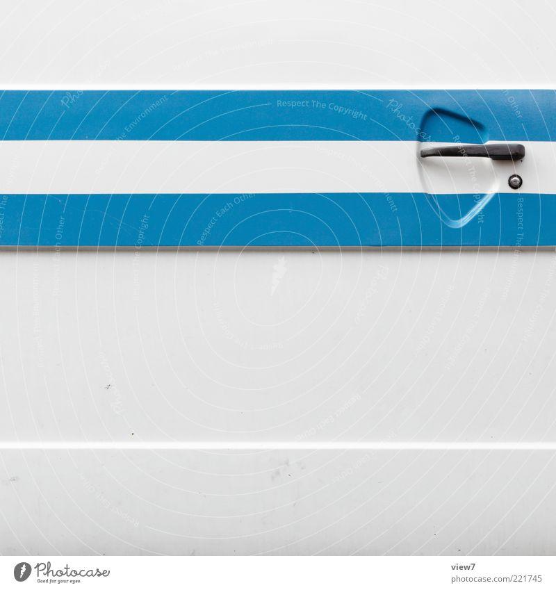 Old White Blue Line Metal Design Elegant Fresh Modern Arrangement Esthetic New Retro Authentic Simple Thin