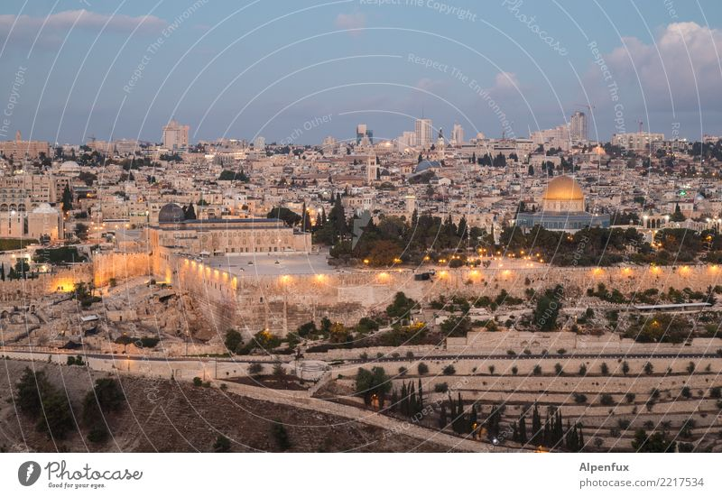 The calm before the storm West Jerusalem Palestine Israel Asia Town Downtown Old town House (Residential Structure) Church Dome Manmade structures Building