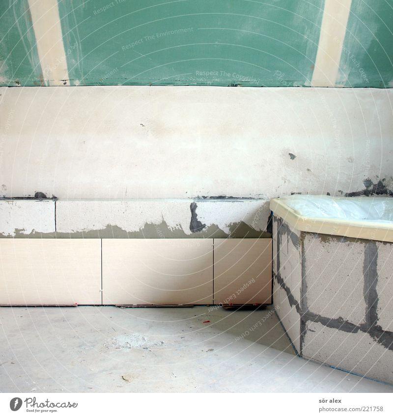 Interior design Work and employment Bathtub Copy Space Construction site Bathroom Tile Wooden board Craft (trade) Gypsum Performance Detached house Handcrafts