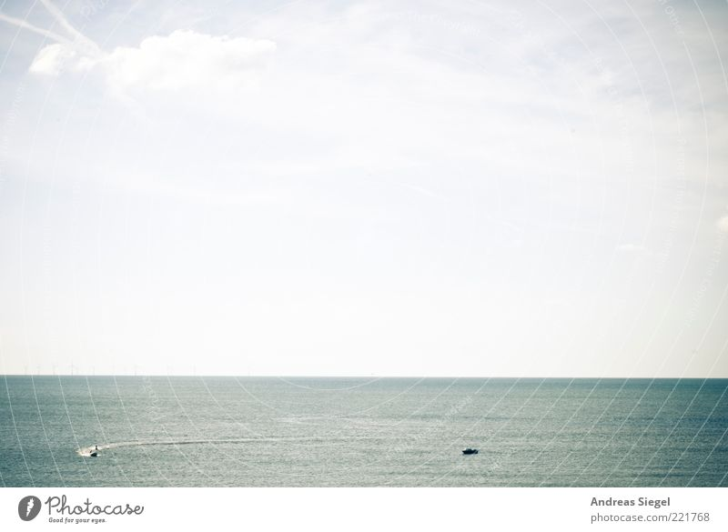 Water Sky Ocean Blue Summer Far-off places Relaxation Freedom Watercraft Coast Environment Horizon Empty Driving Infinity