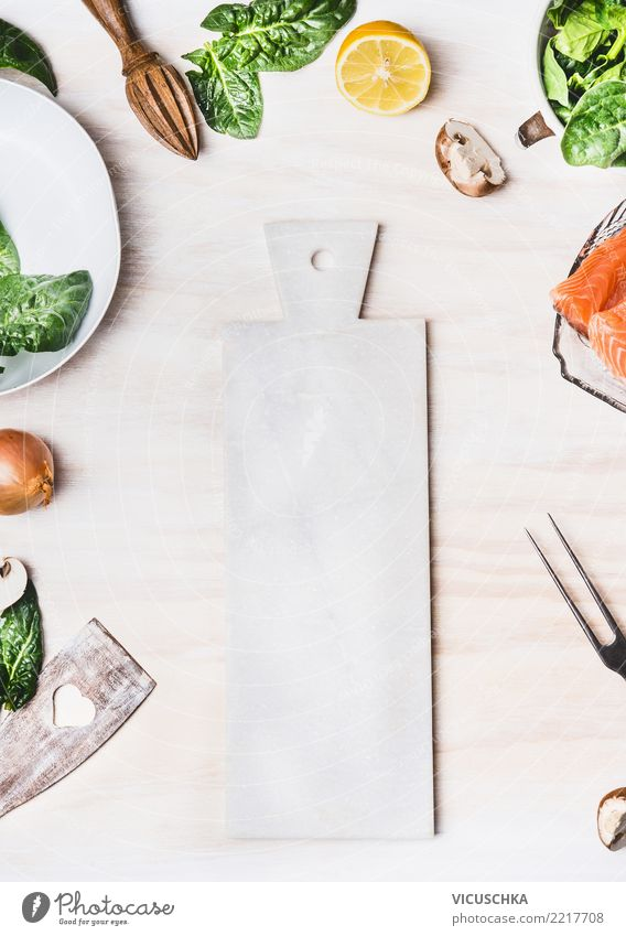 White Cutting Board Background Food Vegetable Lettuce Salad Nutrition Organic produce Vegetarian diet Diet Crockery Style Healthy Eating Table Kitchen