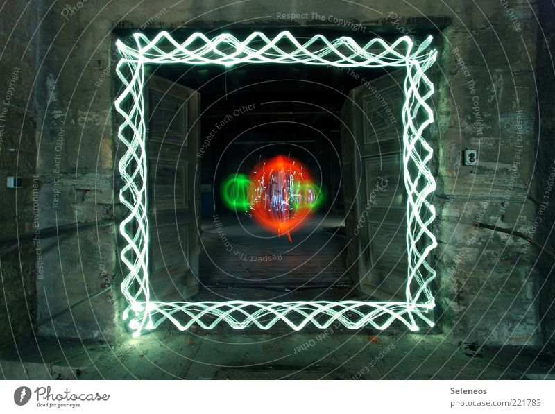 Beautiful Wall (building) Wall (barrier) Building Room Architecture Door Esthetic Stripe Exceptional Sphere Square Illuminate Manmade structures Light