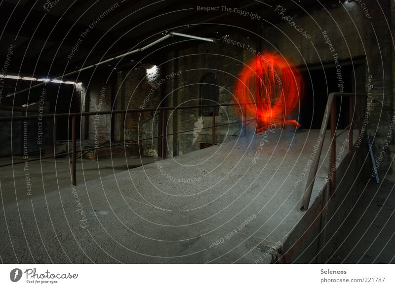 Building Glittering Factory Mysterious Sphere Illuminate Manmade structures Ruin Ghosts & Spectres  Visual spectacle Industrial plant Eerie Exposure Phenomenon