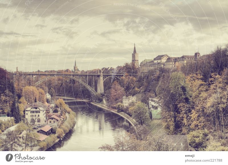 Old Sky Tree City Park Building Bridge Church River Tower Switzerland Village Idyll Skyline Manmade structures Historic