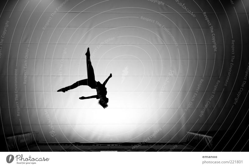 Silhouette 3 Sports Fitness Sports Training Sportsperson Human being Youth (Young adults) Body 1 Movement Rotate Flying Jump Athletic Elegant Black White Power