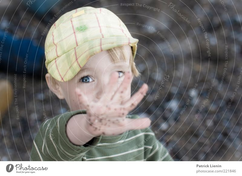 Human being Child Nature Hand Beautiful Joy Eyes Boy (child) Emotions Playing Happy Head Contentment Moody Dirty Funny