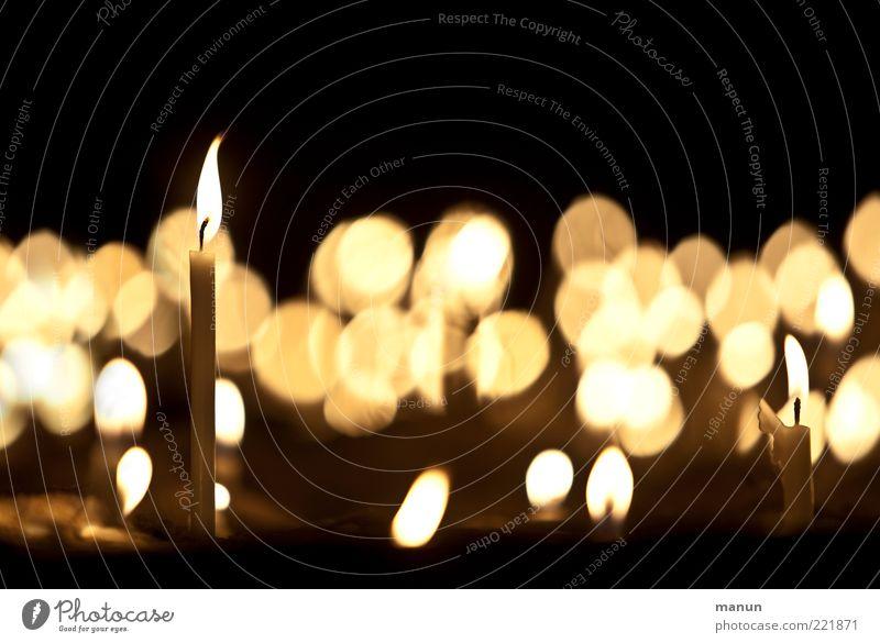 candlelight II (LT Ulm 14.11.10) Feasts & Celebrations Sign Candle Candlelight Candle flame Candlelit ambience Illuminating Memory Life Glittering Illuminate