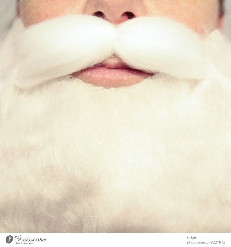 non-disclosure Feasts & Celebrations Santa Claus Carnival costume Facial hair Moustache Beard Cliche White Emotions Moody Obedient Dependability Truth Authentic