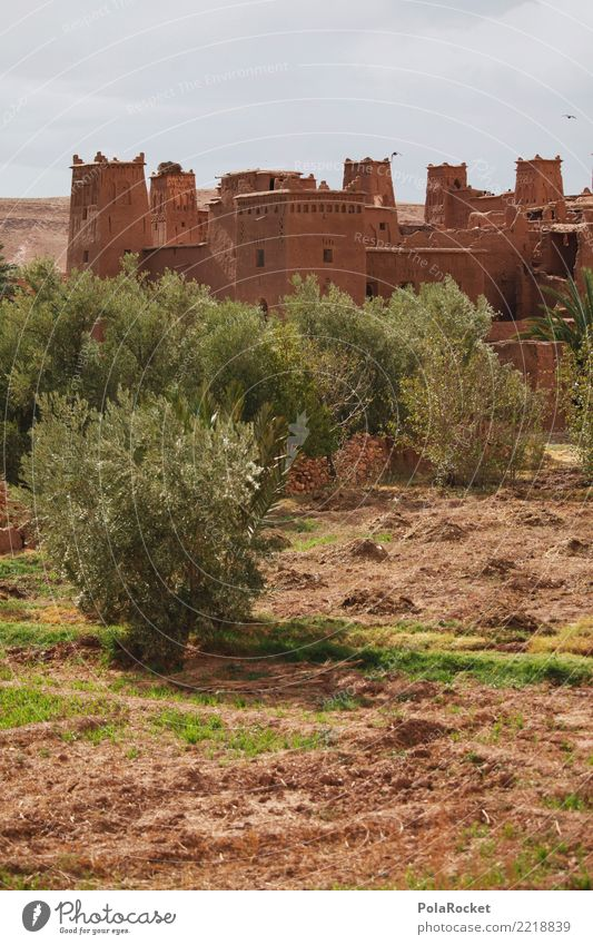 #A# Castle House (Residential Structure) Esthetic Morocco Fortress Near and Middle East Arabia Colour photo Multicoloured Exterior shot Deserted Copy Space left