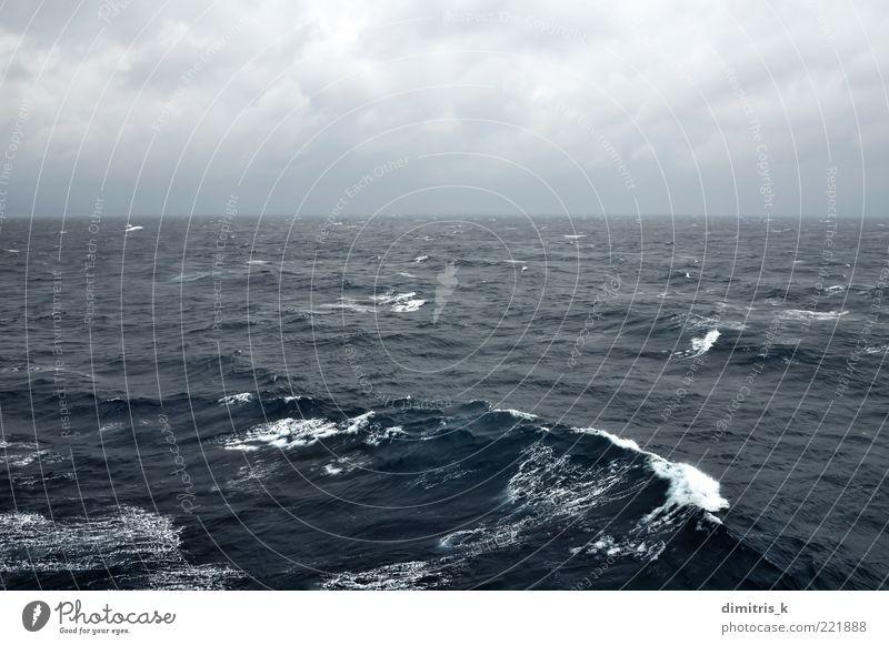 stormy sea Nature Sky Ocean Blue Black Clouds Dark Landscape Waves Coast Background picture Wind Weather Horizon Passion Deep