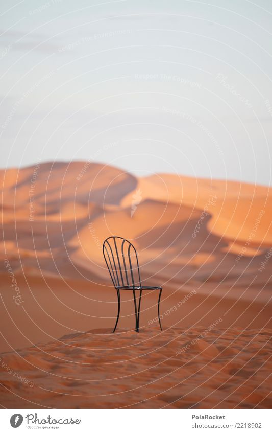 #A# Chair by desert Art Esthetic Sand Desert Dune Idyll Timeless Surrealism Colour photo Subdued colour Exterior shot Experimental Abstract Deserted