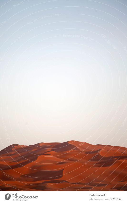 #A# Red Sahara Art Work of art Esthetic Desert Dune Sand Colour photo Multicoloured Exterior shot Deserted Copy Space left Copy Space right Copy Space top