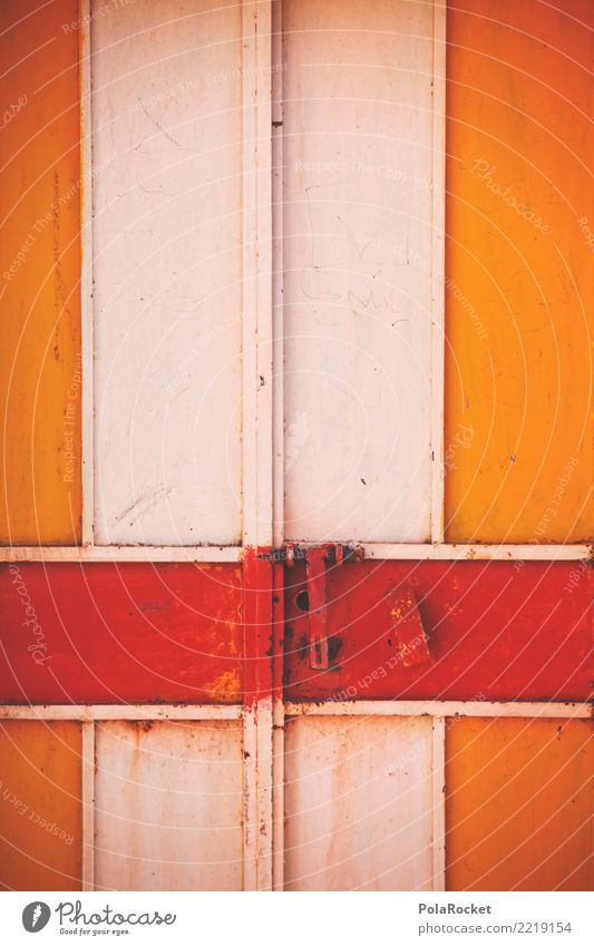 #A# Torrost Door Esthetic Gate Door lock Closed Red Orange Colour photo Multicoloured Exterior shot Detail Experimental Deserted Copy Space left