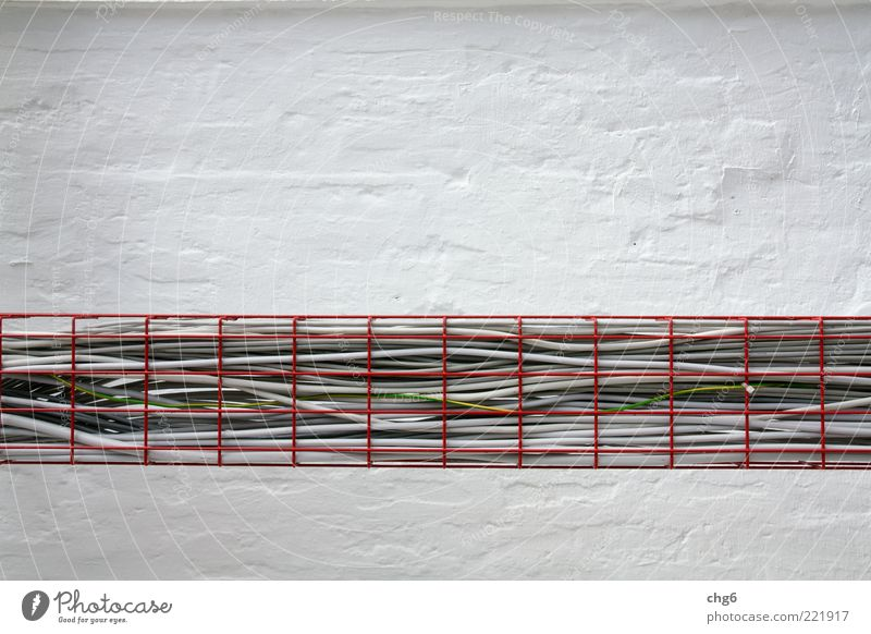 White Red Black Wall (building) Gray Wall (barrier) Metal Energy Energy industry Modern Arrangement Technology Cable Telecommunications Construction site Craft (trade)