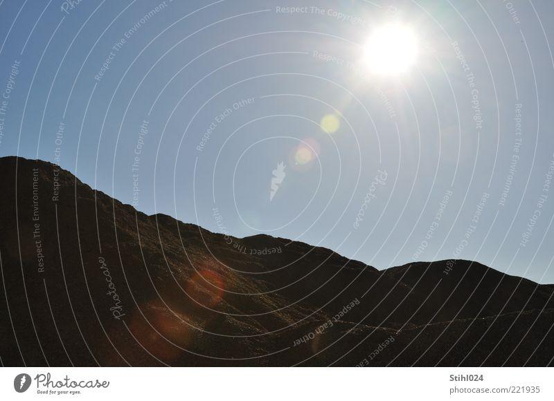 Sky Sun Blue Summer Calm Black Cold Mountain Warmth Sand Landscape Brown Elegant Horizon Rock Earth