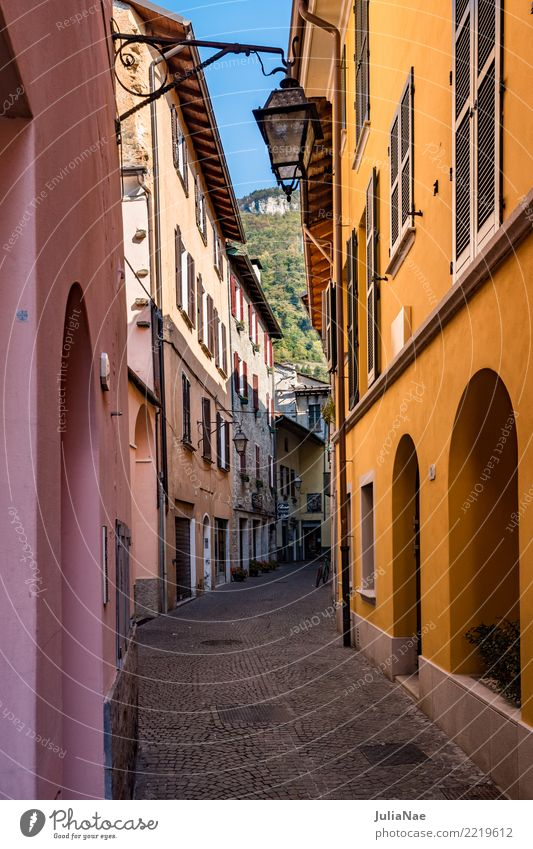 Houses in the old town of Gravedona on Lake Como Old town Town House (Residential Structure) Historic Alley Gravedona ed Uniti Lombardy Italy Tourist Attraction