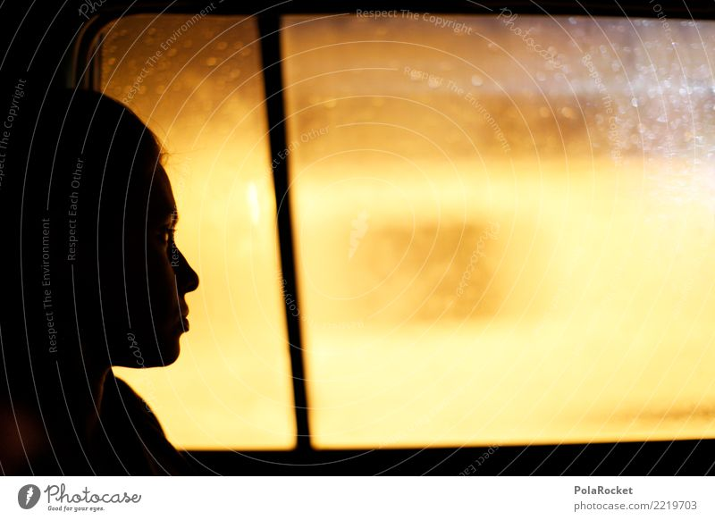#A# driving home Art Esthetic Car Window Window pane Taxi Looking Far-off places Blur Woman Future Futurism Forward-looking Dream Dream of the future