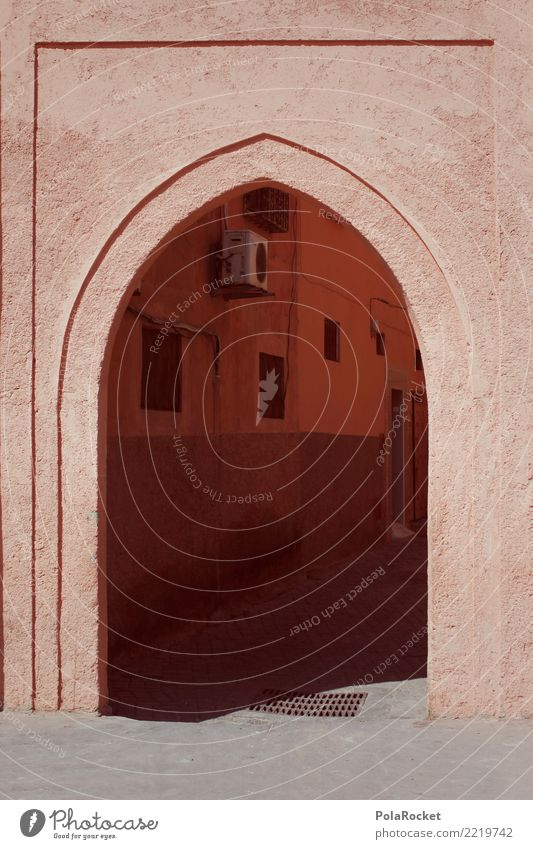 #A# Oriental Gate Art Work of art Esthetic Arabia Near and Middle East Morocco Marrakesh Colour photo Subdued colour Exterior shot Detail Experimental Abstract