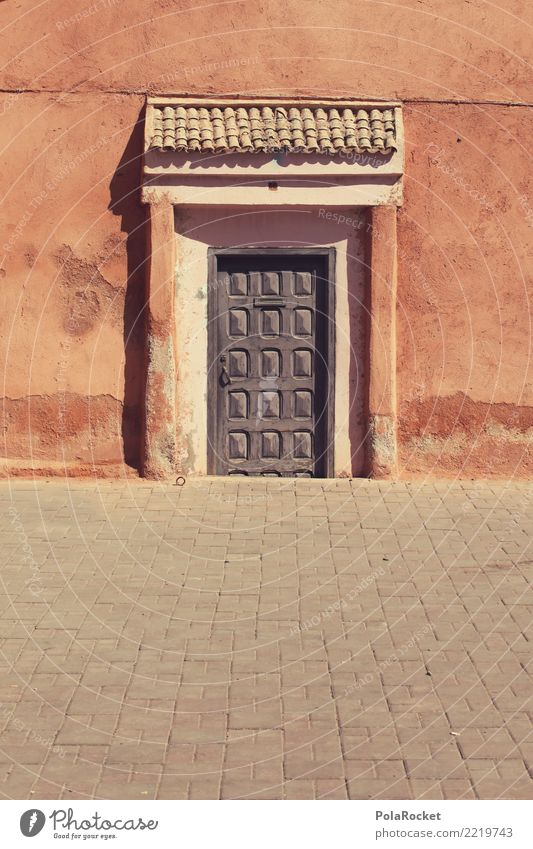 #A# a door stop House (Residential Structure) Esthetic Door Doorframe Gate Morocco Marrakesh Orientation Near and Middle East Colour photo Multicoloured
