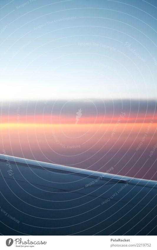Sky Heaven Far-off places Art Esthetic Tall Airplane Wing Wanderlust Height Skyward