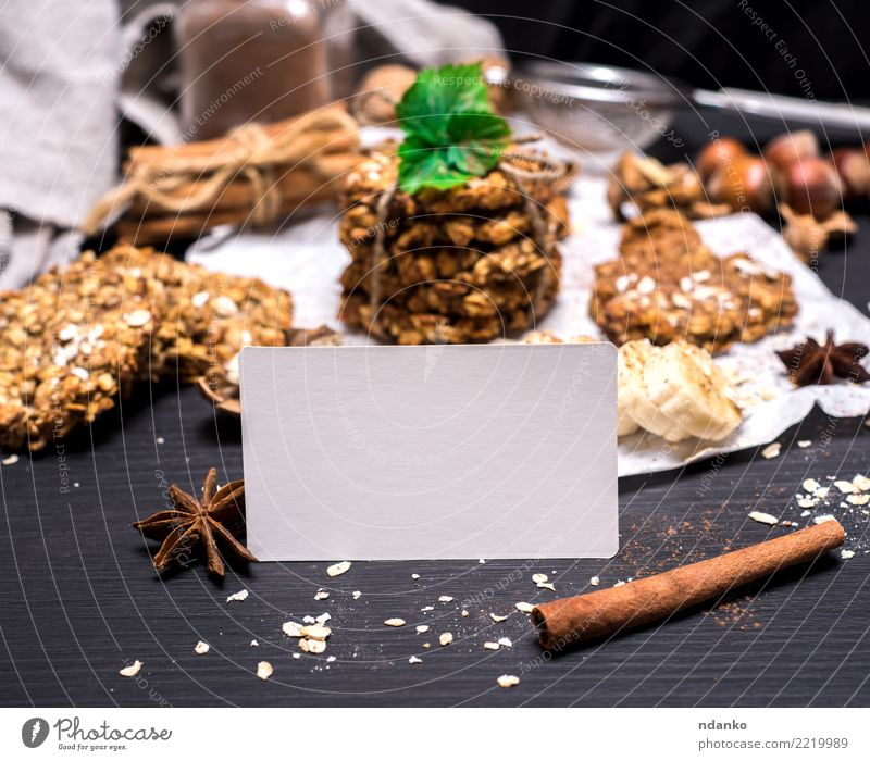 oatmeal cookies and ingredients White Black Eating Yellow Wood Brown Nutrition Energy Card Breakfast Tradition Dessert Baked goods Cooking Diet Vegetarian diet