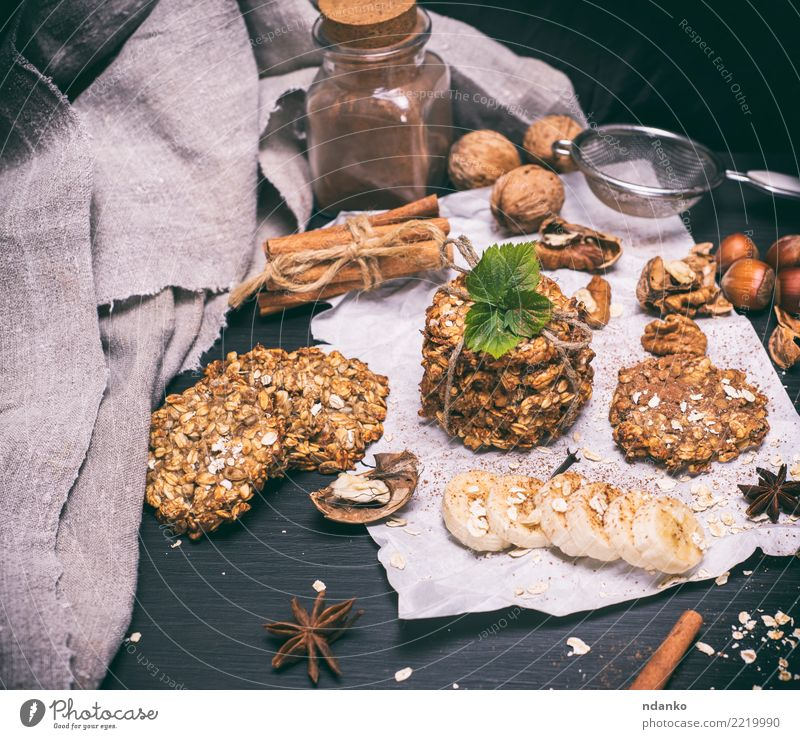 oatmeal cookies White Eating Natural Food Brown Fruit Nutrition Energy Delicious Breakfast Tradition Dessert Baked goods Meal Diet Ingredients