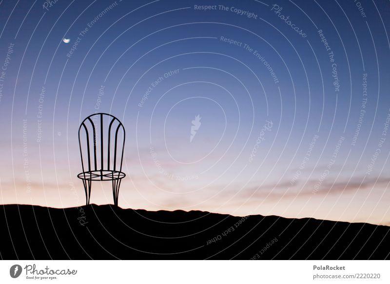 #A# Sahara night Nature Esthetic Desert Chair Moon Calm Dawn Wake up Morning Sky Idyll Colour photo Subdued colour Exterior shot Detail Experimental Abstract