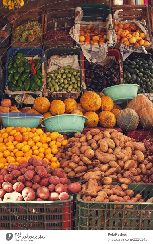 #A# Fresco counter Food Nutrition Esthetic Markets Market stall Market day Market trader Potatoes Derby Selection Collection Cucumber Colour photo Multicoloured