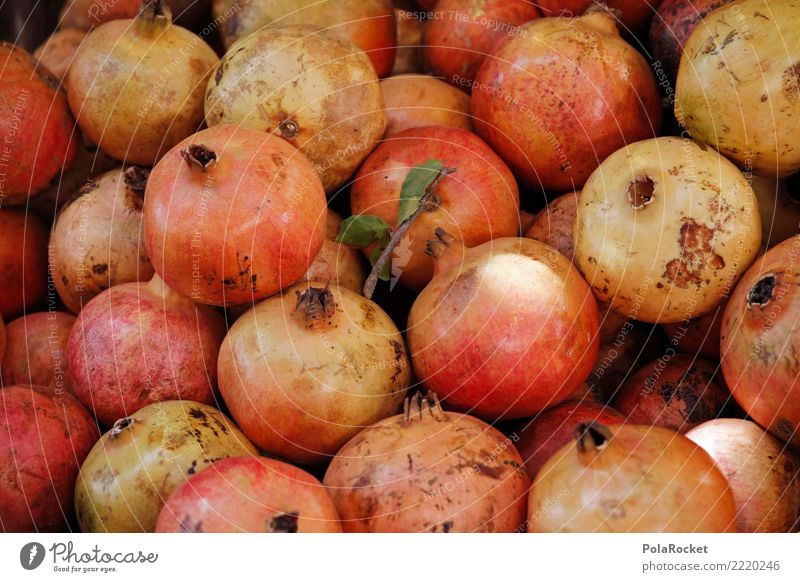#A# Pomegranates Food Nutrition Esthetic Harvest Tropical fruits Red Healthy Eating Vitamin-rich Exotic Many Colour photo Subdued colour Exterior shot Detail