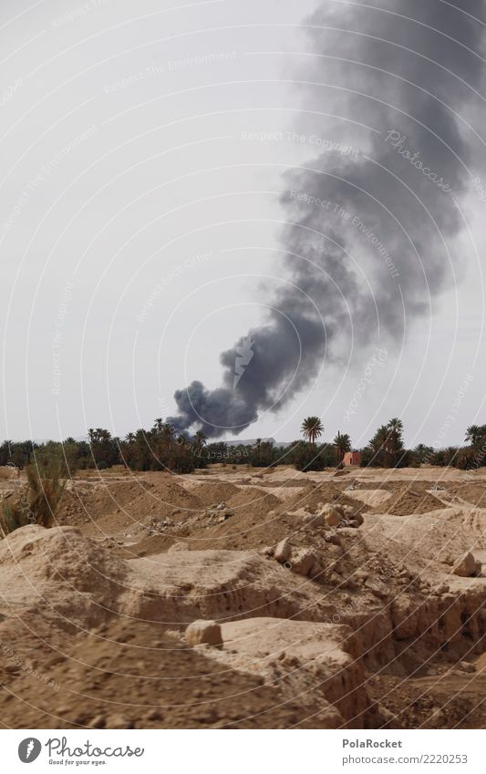 #A# WE ARE AT WAR Art Esthetic War Theater of war Smoke Destruction Terror Terrorism Terrorist attack Risk of terrorism Burn Iraq Syria Desert Colour photo
