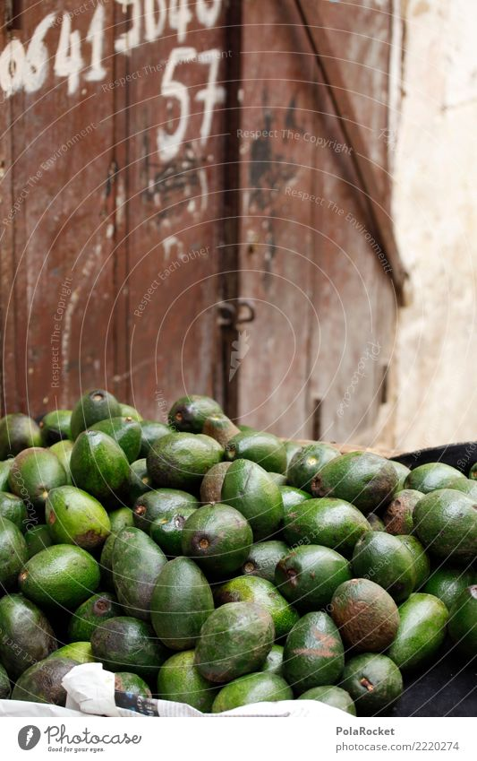 #A# Avocado stand Food Esthetic Green Market day Morocco Marrakesh Many Healthy Eating Market stall Colour photo Multicoloured Exterior shot Detail Experimental