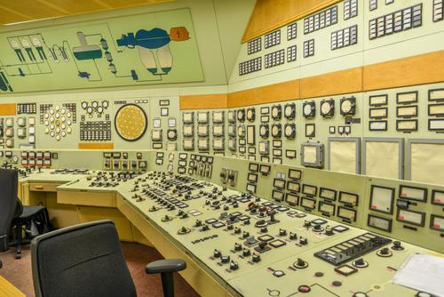 akw 2 Keyboard Energy industry Nuclear Power Plant Industry Industrial plant Factory Might Colour photo Interior shot Central perspective
