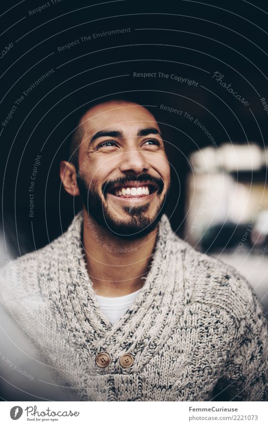 Human being Youth (Young adults) Man Young man Relaxation 18 - 30 years Adults Laughter Happy Fashion Masculine Smiling Happiness Clothing Facial hair