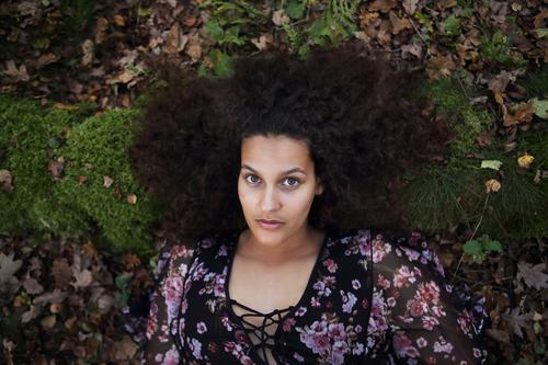 Portrait in the forest Happy Beautiful Hair and hairstyles Face Well-being Senses Young woman Youth (Young adults) 18 - 30 years Adults Nature Earth