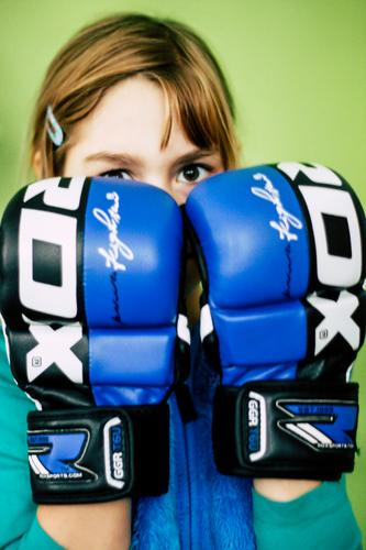 Boxing Girl! Athletic Fitness Sports Sports Training Martial arts Feminine Young woman Youth (Young adults) Life Head 8 - 13 years Child Infancy 13 - 18 years