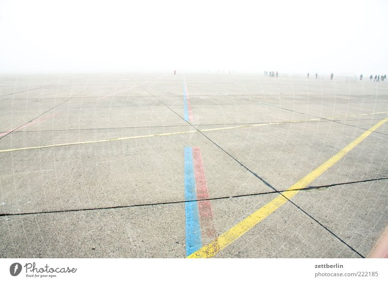 Far-off places Berlin Group Horizon Line Climate Leisure and hobbies Fog Walking Places Concrete Trip Stripe Airport Haze Seam