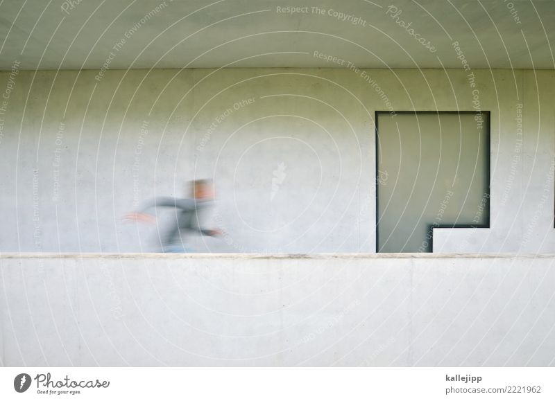 Child Human being Window Life Architecture Wall (building) Boy (child) Playing Wall (barrier) Gray Facade Modern Infancy Speed Concrete Haste