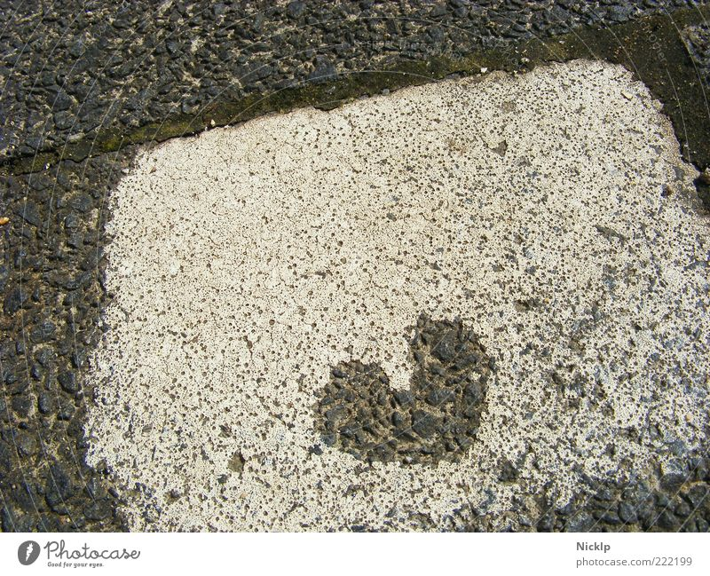 A heart on a white painted paving stone (graffiti) <3 Heart Sign symbol symbolic luck Structures and shapes Romance Emotions Infatuation already Authentic Art