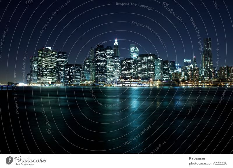 New York Skyline Capital city Port City Outskirts High-rise Tourist Attraction Large Original Blue White Emotions Power Luxury Brave Quality New York City Town