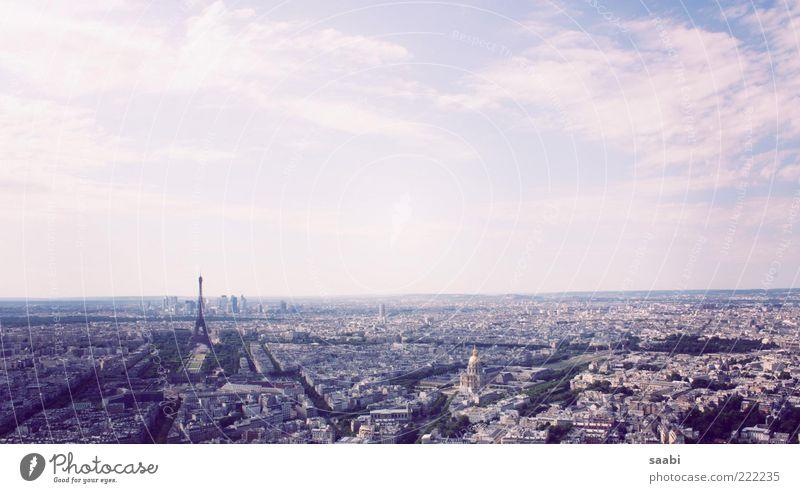City Far-off places Freedom Horizon Paris Joie de vivre (Vitality) Beautiful weather France Tourist Attraction Eiffel Tower