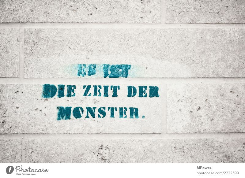 ... Sign Characters Aggression Graffiti Stone wall Text Opinion Freedom of expression Remark Moody Monster Colour photo Exterior shot
