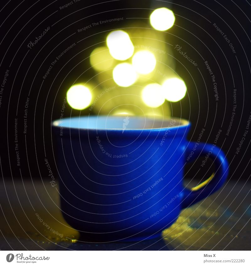 Blue Bright Glittering Beverage Illuminate Cup Magic Mug Containers and vessels Carry handle