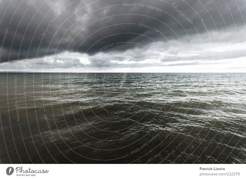 Nature Water Ocean Clouds Far-off places Cold Dark Gray Rain Air Earth Moody Waves Environment Fear Weather