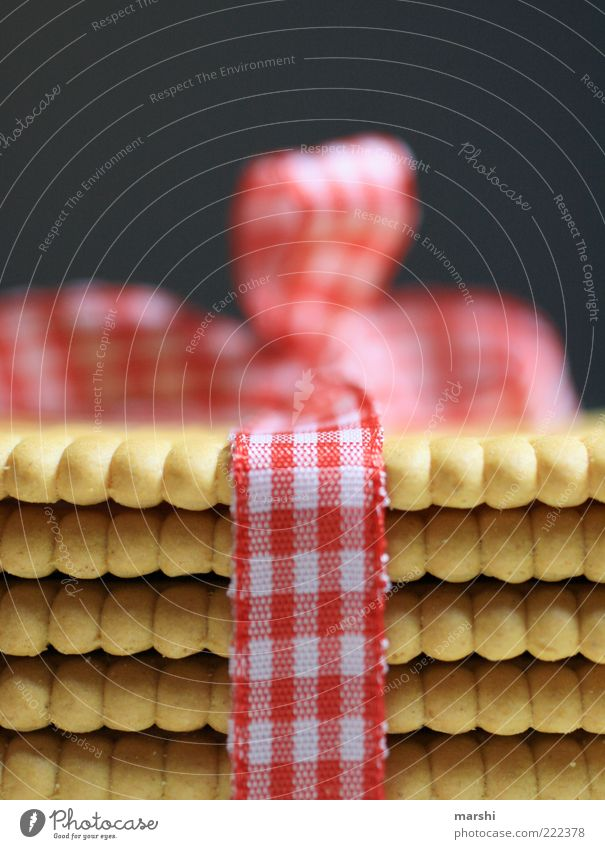 White Red Gold Food Nutrition Decoration Gift Appetite Candy Delicious Checkered Textiles Bow Dessert Cookie Packaging