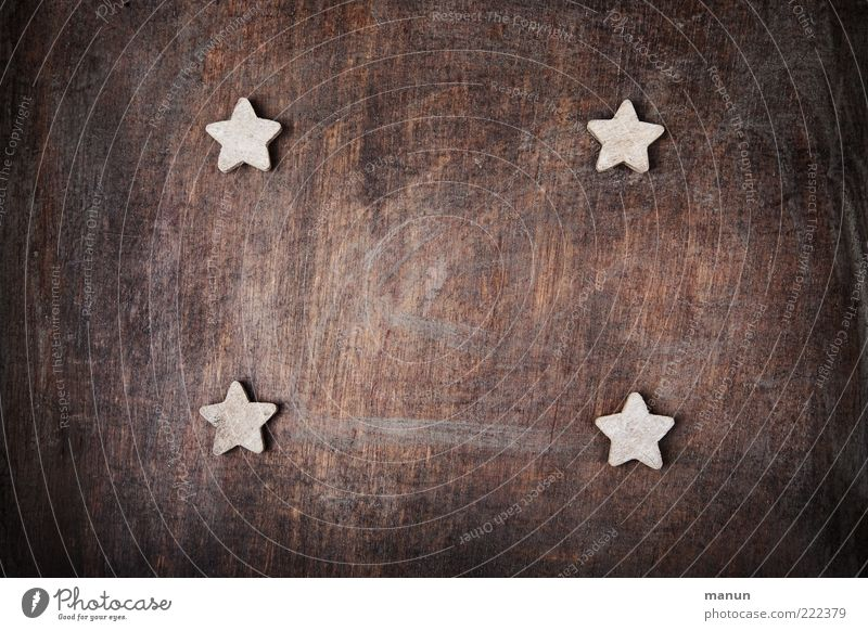 Beautiful Natural Wood Exceptional Feasts & Celebrations Authentic Simple Star (Symbol) Sign Kitsch Desire Anticipation Baked goods Dough Festive Cookie